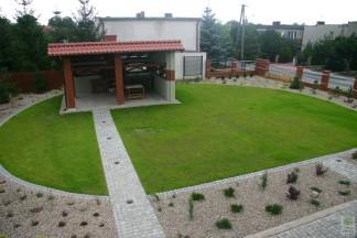 Ogród żwirowy regularny