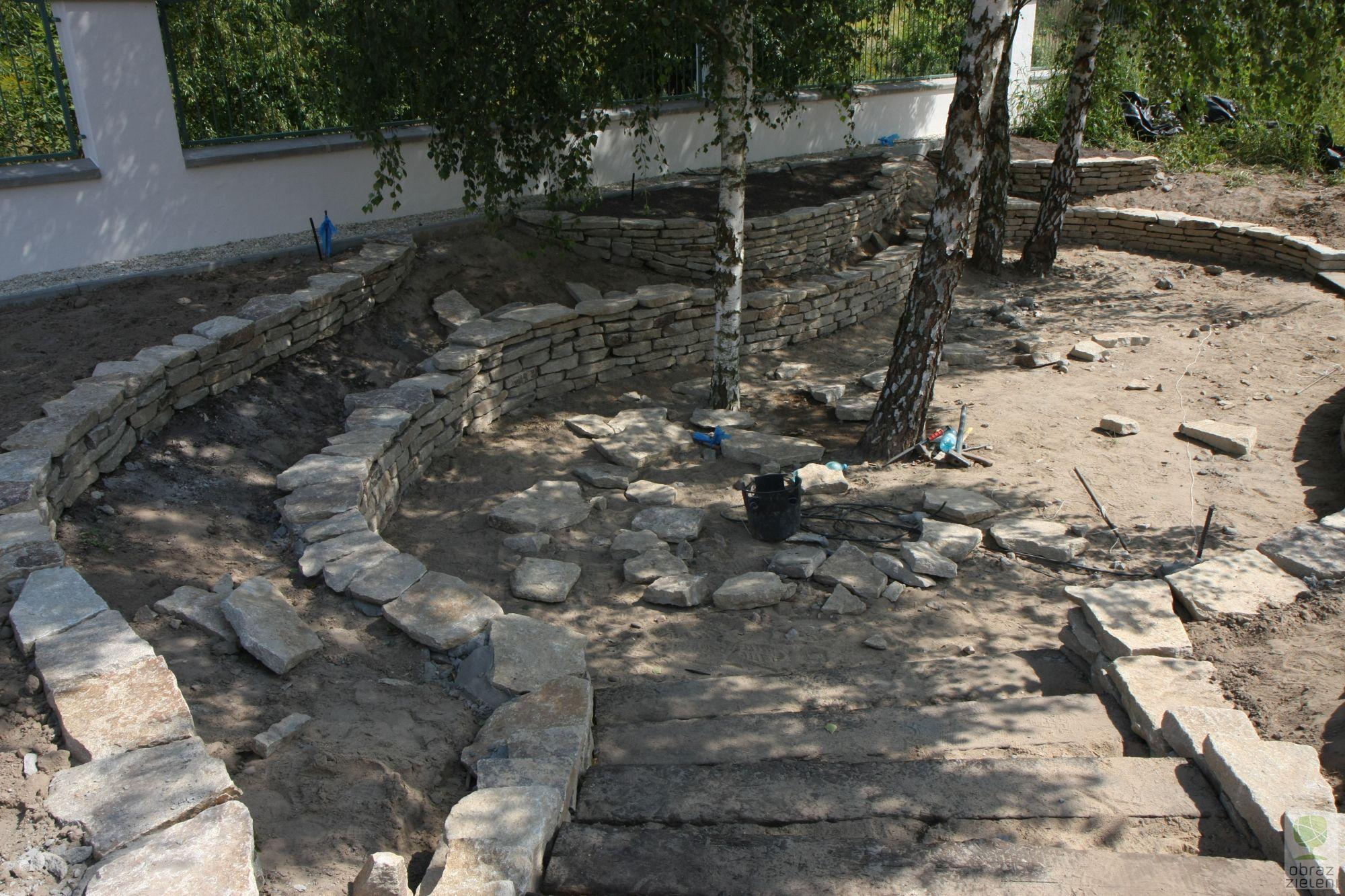 Ogród z wgłębnikiem granitowym – w budowie