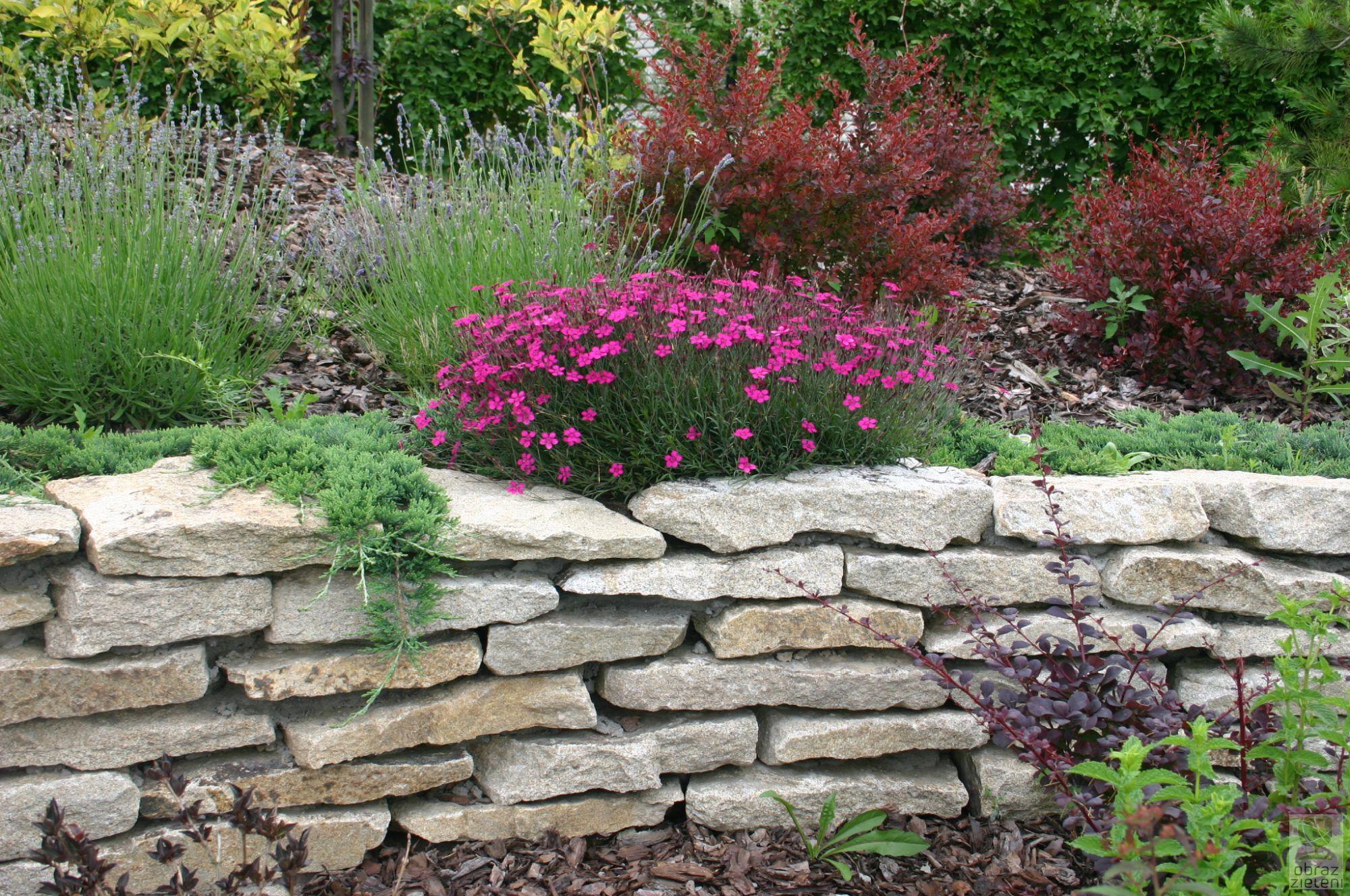 Ogród z elementami granitowymi
